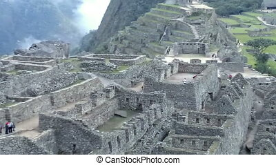 View of the ancient Inca City of Machu Picchu The 15-th...
