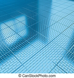 tile floor Blue Check