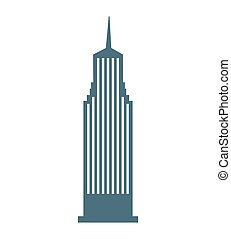 building skyscraper construction silhouette icon vector...