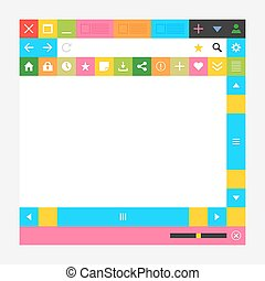 Web browser window with additional buttons. New minimal...