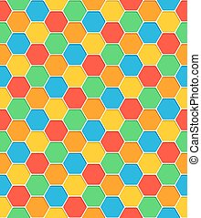 Seamless pattern honeycomb texture hexagon shapes with...