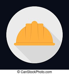 helmet industrial security safety icon Vector graphic -...