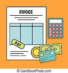 document bills card invoice payment icon. Vector graphic -...