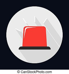 red alarm industrial security safety icon. Vector graphic -...