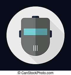 Air mask industrial security safety icon. Vector graphic -...