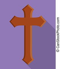 cross wood religion church icon Vector graphic - cross wood...