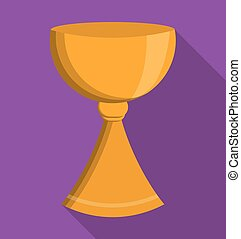 gold cup religion icon Vector graphic - gold cup religion...