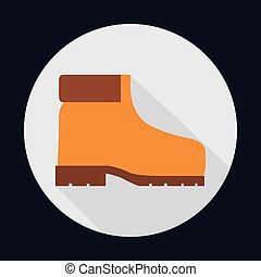 boot industrial security safety icon Vector graphic - boot...