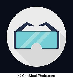glasses, industrial security safety icon Vector graphic -...