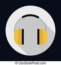 headphone industrial security safety icon Vector graphic -...