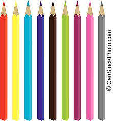 pencils - vector pencils
