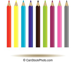 pencils - vector pencils background