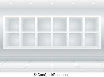 White furniture cells - White cell furniture or display...