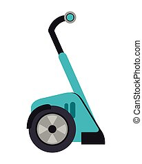 segway transport icon - flat design segway transport icon...