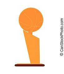 basketball trophy icon - flat design basketball trophy icon...