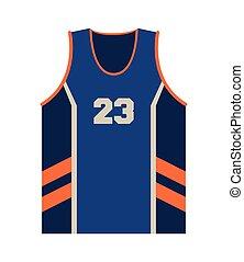 basketball jersey icon - flat design basketball jersey icon...