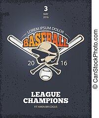 Retro baseball vector poster - Retro baseball poster. Logo...