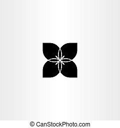black flower bow tie vector icon symbol