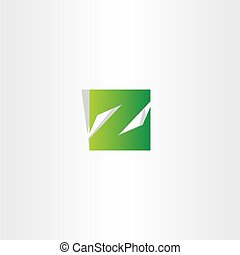 green z letter logo square icon vector