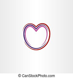 heart stylized icon line vector illustration