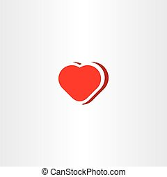heart vector icon symbol red love sign