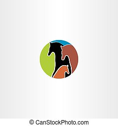 horse family logo vector