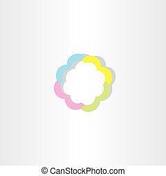 light colorful business sign icon abstract logo - light...