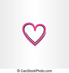 love heart vector illustration icon design