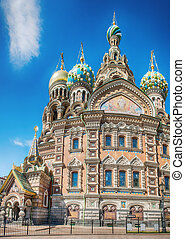 Church of the Savior on the Spilled Blood in St Petersburg,...