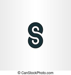symbol vector s letter number 8 eight logotype - symbol...