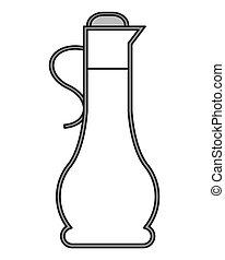 olive oil bottle icon - flat design olive oil bottle icon...