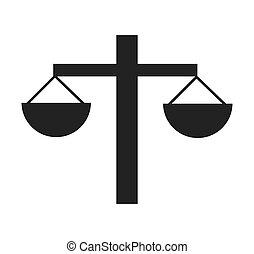 scale balance silhouette icon vector illustration design