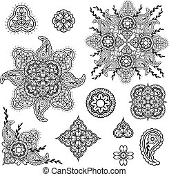 floral and paisley elements