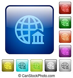 Color internet banking square buttons