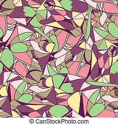 Seamless geometric pattern bright colors Vector illustration...