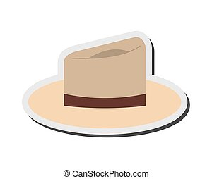 single hat icon - flat design single hat icon vector...