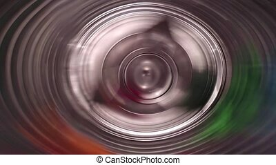 Centrifugal Rinsing Phase - Internal view of a washing...