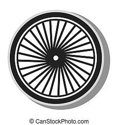 Gear bike wheel icon vector illustration - Gear bike wheel,...