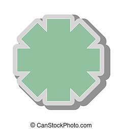 emergency medical symbol icon vector illustration