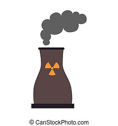 nuclear plant industry icon vector illustration - nuclear...