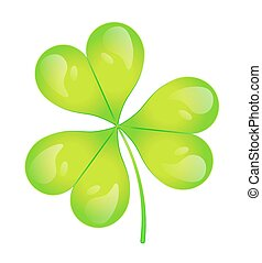 The images of abstract three-leaf clover eps10 vector...