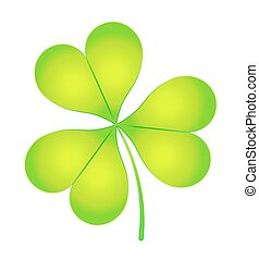 The images of abstract three-leaf clover. eps10 vector...