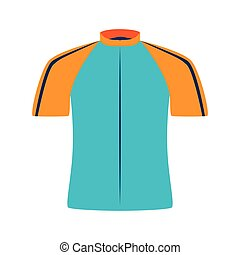 cyclist wear shirt icon vector illustration