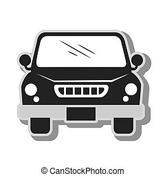 pick-up vehicle transport icon vector illustration - pick-up...