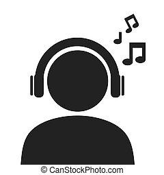 male pictogram profile icon vector illustration