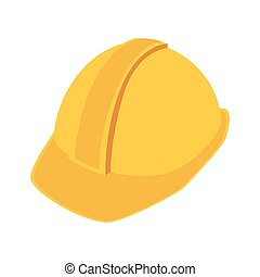 construction helmet safety icon vector illustration -...