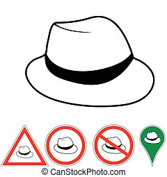 club hat - Vector illustration club hat Vintage man's fedora...