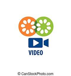 vector logo Camcorder - video camera logo design template...
