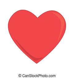 heart love romantic, isolated flat icon design