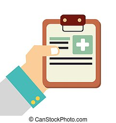 Medical healthcare theme design icon. - Medical report...